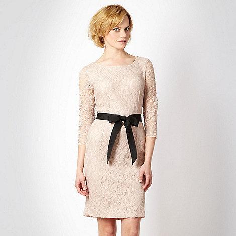 Debut - Natural floral lace dress