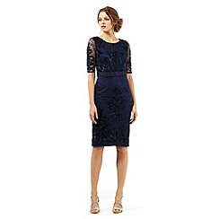 Debut - Navy midi floral lace dress