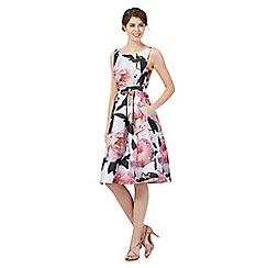 Debut - Multi-coloured floral print prom dress