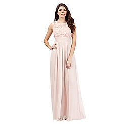 No. 1 Jenny Packham - Pale pink floral maxi dress