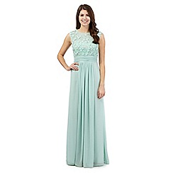 No. 1 Jenny Packham - Aqua floral maxi dress
