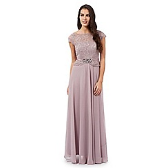 No. 1 Jenny Packham - Light purple Selena jewel embellished maxi dress