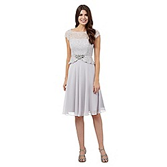 No. 1 Jenny Packham - Silver jewel embellished midi dress