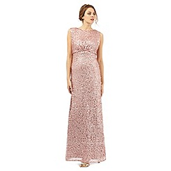 No. 1 Jenny Packham - Pale pink sequin glitter maxi dress