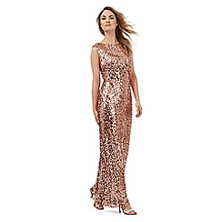 No. 1 Jenny Packham - Pink sequin glitter maxi dress