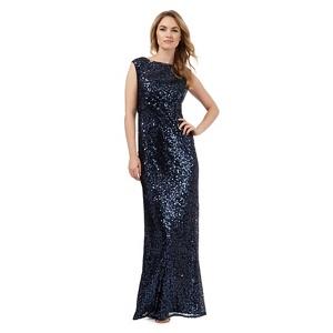 No. 1 Jenny Packham Navy (Blue) Sequin Glitter Maxi Dress