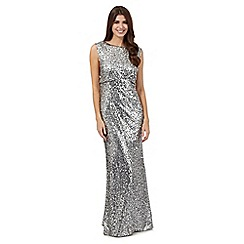 No. 1 Jenny Packham - Silver sequin glitter maxi dress