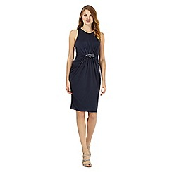 No. 1 Jenny Packham - Navy embellished waist dress