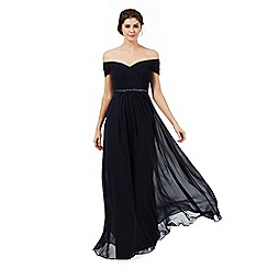 Butterfly by Matthew Williamson - Navy blue 'Isabella' Bardot style evening dress