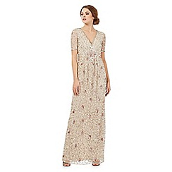 No. 1 Jenny Packham - Gold sequin embellished maxi dress