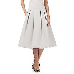No. 1 Jenny Packham - Beige pleated A-line skirt