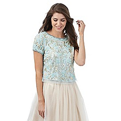No. 1 Jenny Packham - Pale blue jewel embellished top