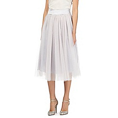No. 1 Jenny Packham - Pale grey tulle skirt