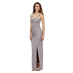No. 1 Jenny Packham - Grey diamante trim maxi dress