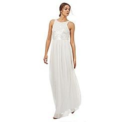 No. 1 Jenny Packham - White sequin embellished maxi dress