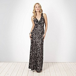 No. 1 Jenny Packham - Black printed maxi dress