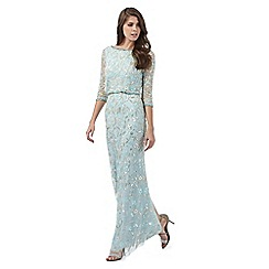 No. 1 Jenny Packham - Pale blue jewel embellished maxi dress