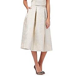 No. 1 Jenny Packham - Ivory leaf textured pleated skirt