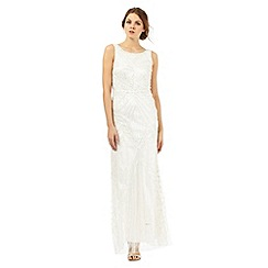 Debut - Ivory embellished cowl neck maxi dress