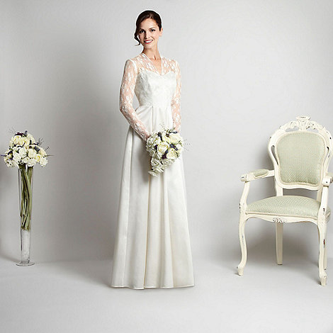 Debut - Ivory satin and lace bridal dress