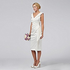 Debut - Samantha Satin Mid-length Bridal Dress