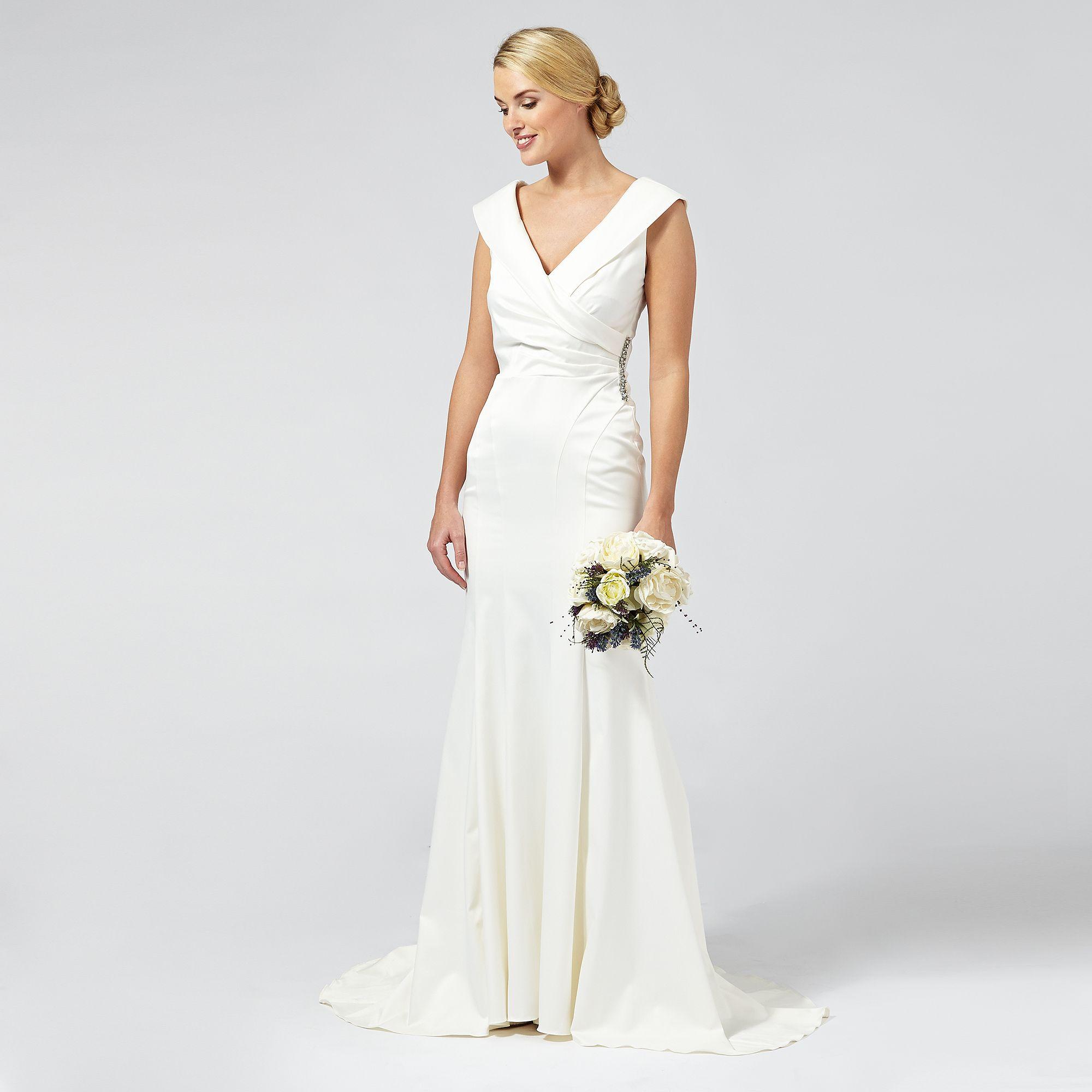Debut Womens Samantha Satin Bridal Dress From Debenhams Ebay