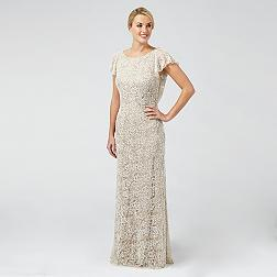 Cream 'Vivienne' lace and beaded wedding dress