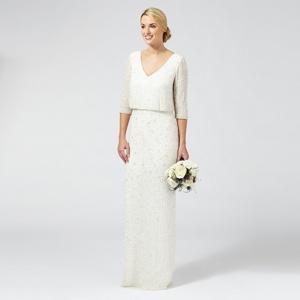 Ben De Lisi Occasion Ivory embellished 'Margerite' v-neck wedding dress