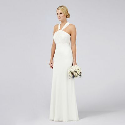 Ben De Lisi Occasion Ivory Embellished Countess Halterneck Wedding Dress