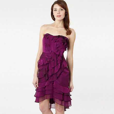 Pearce II Fionda - Purple ruffle cocktail dress