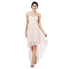 Butterfly by Matthew Williamson - Blush pink 'Faye' asymmetric hem dress
