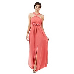 Butterfly by Matthew Williamson - Coral 'Teagan' halter-neck evening dress