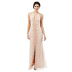 Butterfly by Matthew Williamson - Blush pink 'Effie' embellished evening dress