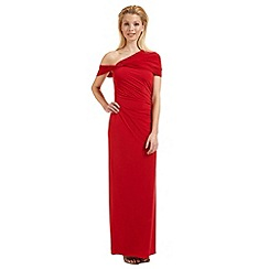 Ariella London - Red 'Endra' off-the-shoulder evening dress