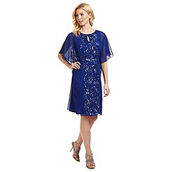 Ariella London - Blue 'Enid' batwing beaded dress