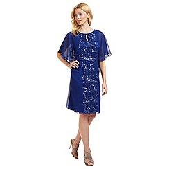 Ariella London - Blue 'Enid' batwing beaded dress