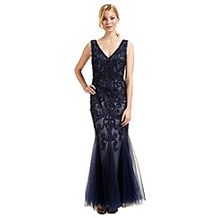 Ariella London - Navy blue 'Dallas' beaded evening dress