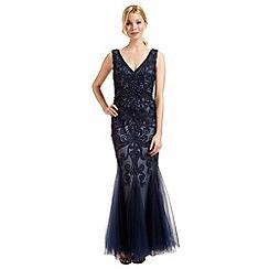 Ariella London - Navy blue 'Dallas' beaded evening dress