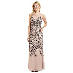Ariella London - Nude 'Eden' beaded evening dress
