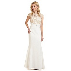 Ariella London - White 'Melina' lace embellished evening dress