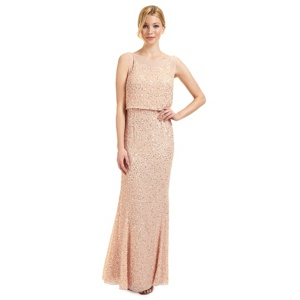 Ariella London Nude 'Monroe' sequinned evening dress