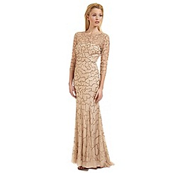 Ariella London - Nude 'Indi' beaded evening dress