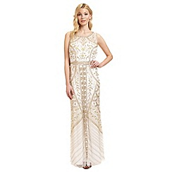 Ariella London - Ivory 'Azure' sequinned evening dress