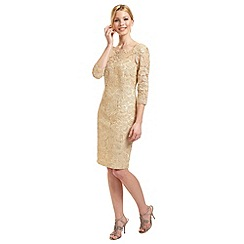 Ariella London - Gold lace 'Adeline' shift dress