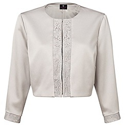 Ariella London - Silver 'Carine' lace trim jacket