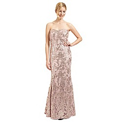 Ariella London - Pale pink 'Amara' sequinned evening dress
