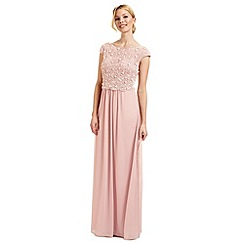 Ariella London - Pink 'Amerie' beaded overlay evening dress