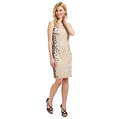 Ariella London - Nude 'Dionne' beaded dress