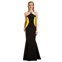 Ariella London - Black 'Elisa' metal trim evening dress