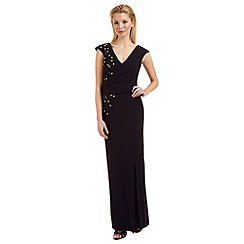 Ariella London - Black 'Caitlyn' bead embellished evening dress